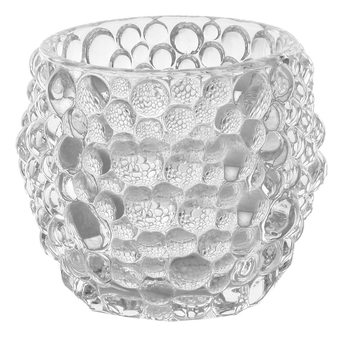 ShiShi Подсвечник Воздушные Пузырьки, 8 см, стекло