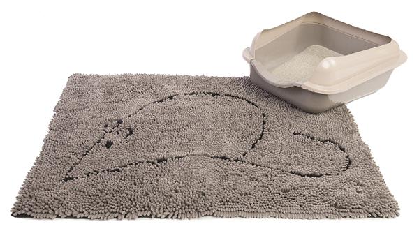 Коврик под туалетный лоток DOG GONE SMART серый, M, 51x79 см