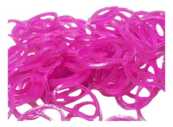 Плетение из резинок Rainbow Loom Леденцы Пастель роз розовые