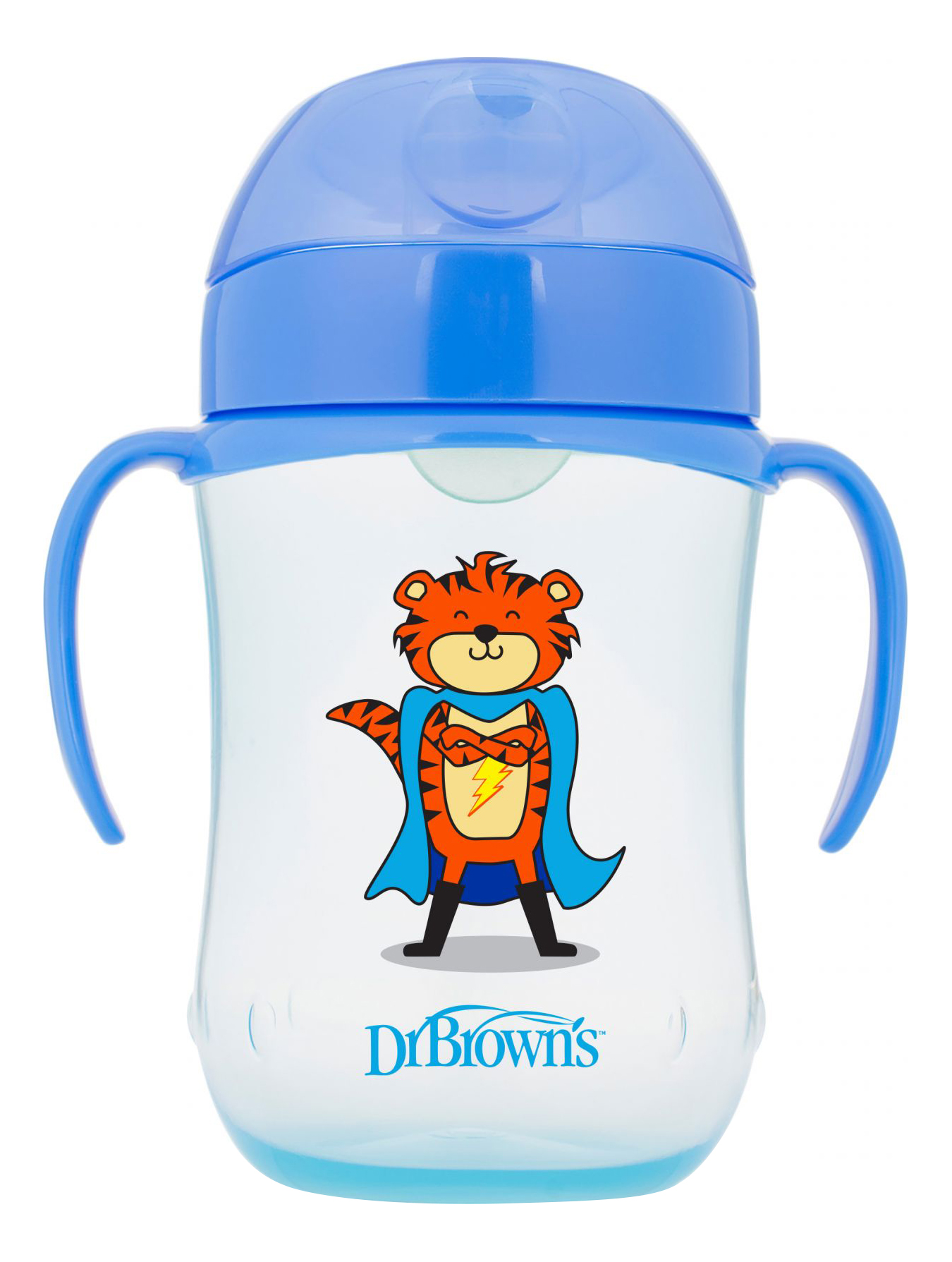 Купить 270 мл синий, Поильник Dr.Brown чашка с мягким носиком 270 мл (с 9 мес) синий, Dr. Brown's, Поильники