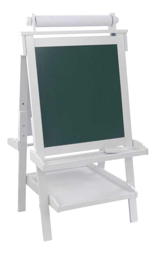 Купить Деревянный белый, Детский двусторонний мольберт Kidkraft делюкс белый 62040_KE, Мольберт для рисования