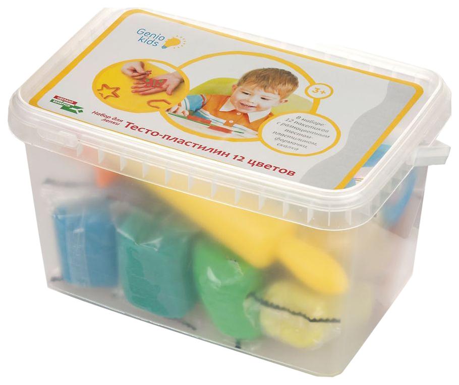 Купить Набор для лепки из пластилина Genio Kids тесто 12 цветов TA1068V,