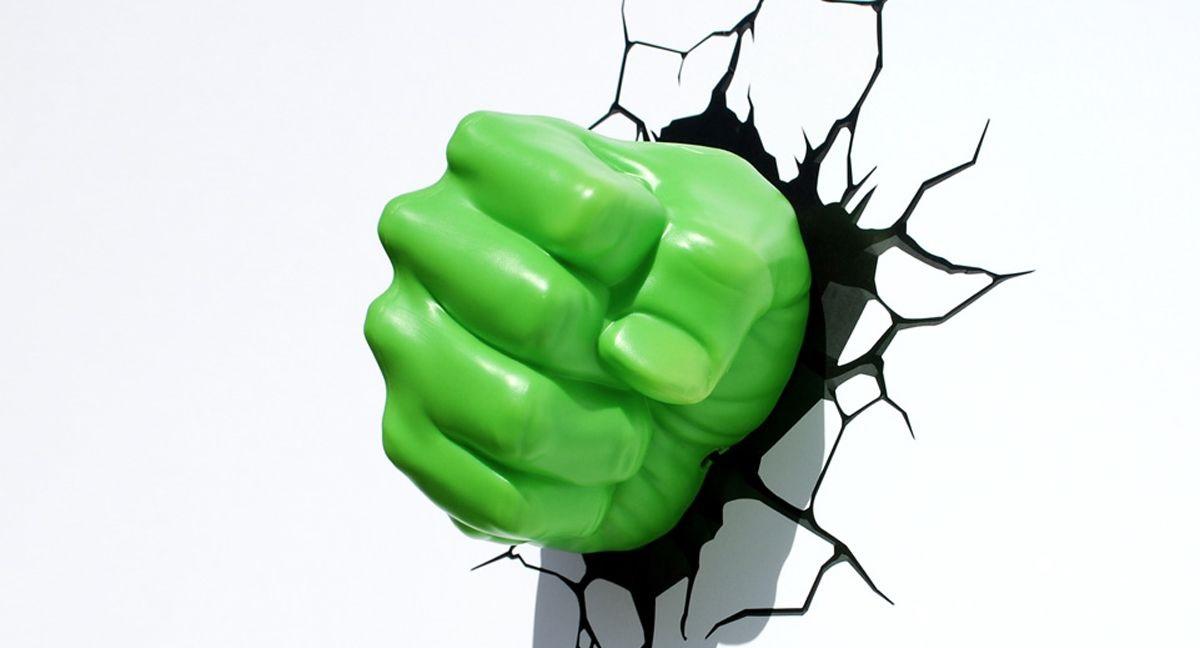 Настенный 3D cветильник 3DLightFX Hulk Fist