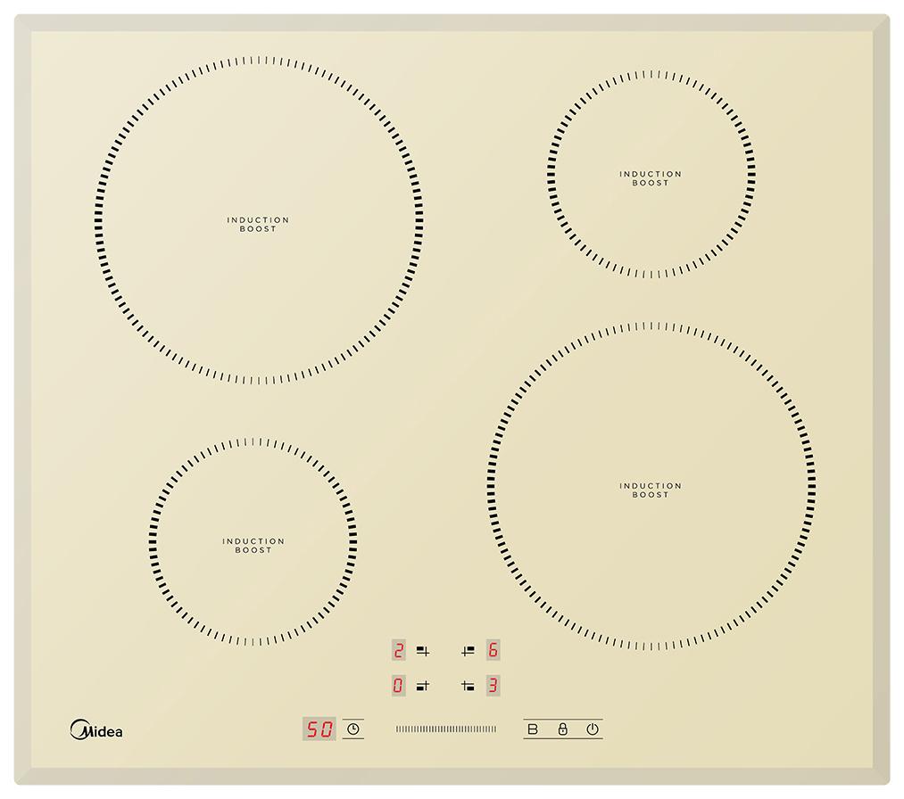 Встраиваемая варочная панель индукционная Midea MIH64721FIV Beige фото