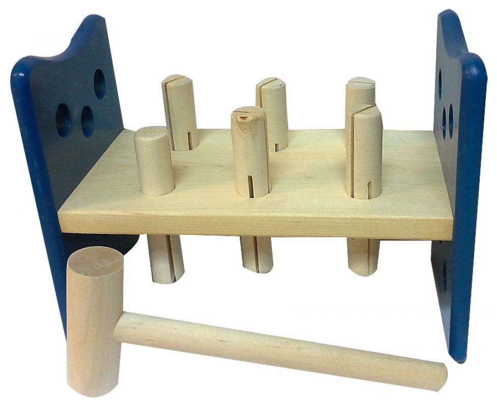 Развивающая игрушка RNToys Гвозди-перевертыши окрашенные фото