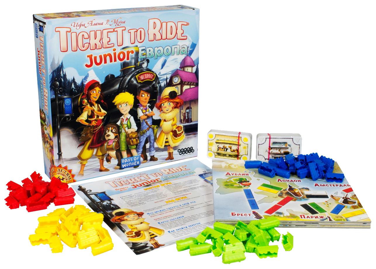 Купить Семейная настольная игра Hobby World Ticket to Ride Junior Европа 1867, Настольные ролевые игры