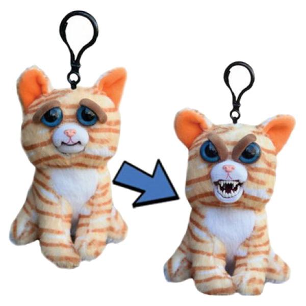 Купить Мягкая игрушка Feisty Pets Кошка рыжая 11 см с карабином, Мягкие игрушки животные