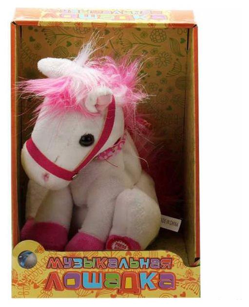 Купить Музыкальная лошадка, Мягкая игрушка Tongde музыкальная лошадка русская озвучка T50-D484, Интерактивные животные