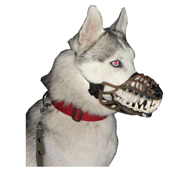 Намордник для собак Оборотень БЕЛЫЙ ОСКАЛ, размер