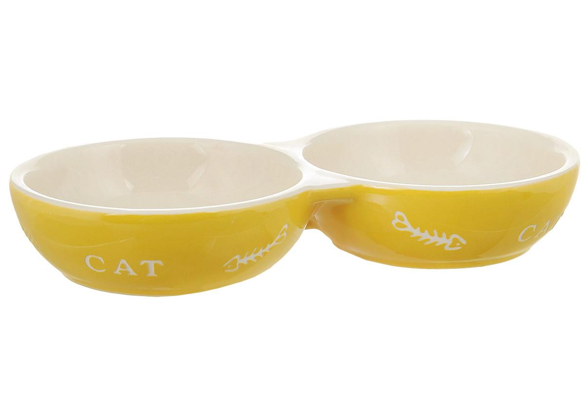 Миска для кошек Nobby двойная, керамическая,