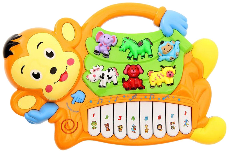 Купить Музыкальная игрушка Пианино - Обезьянка (свет, звук), NoBrand, Интерактивные игрушки