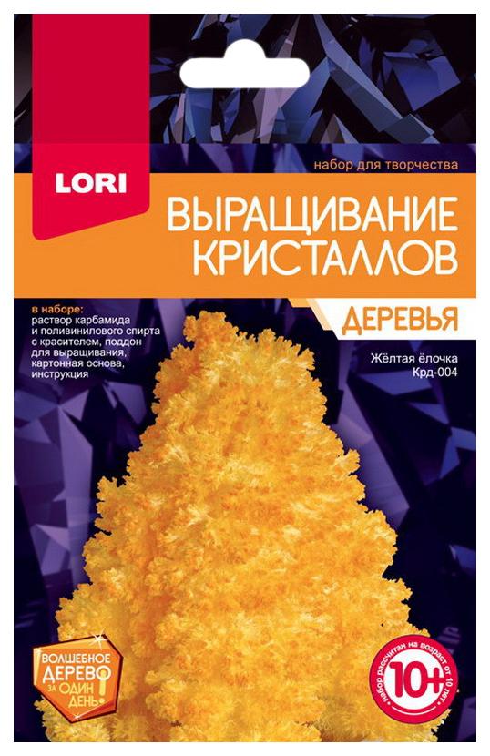 Купить LORI Набор для выращивания кристаллов Деревья. Желтая ёлочка Крд-004, Наборы для выращивания кристаллов