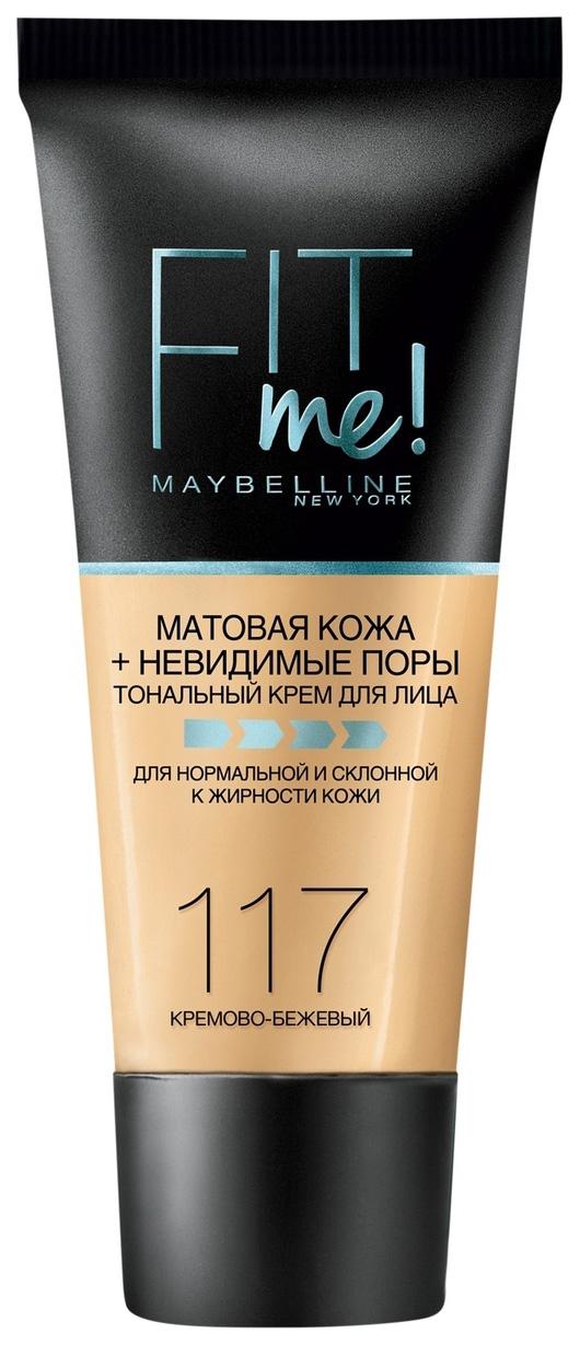 Купить Тональный крем Maybelline New York Fit Me 117 Кремово-бежевый 30 мл