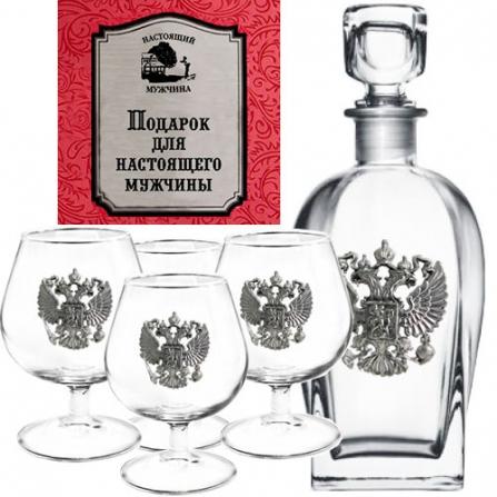 Набор бокалов для коньяка Город подарков