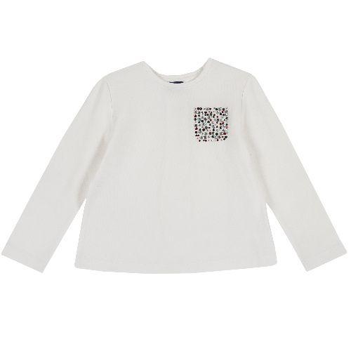 Купить 9006841, Лонгслив Chicco Карман для девочек р.92 цв.белый, Кофточки, футболки для новорожденных