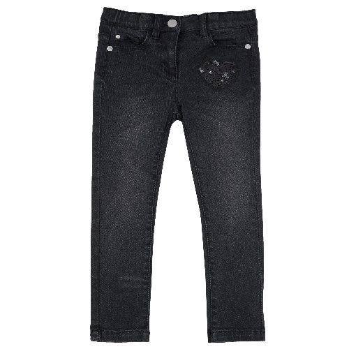 Купить 9008099, Джинсы Chicco для девочек р.128 цв.черный,