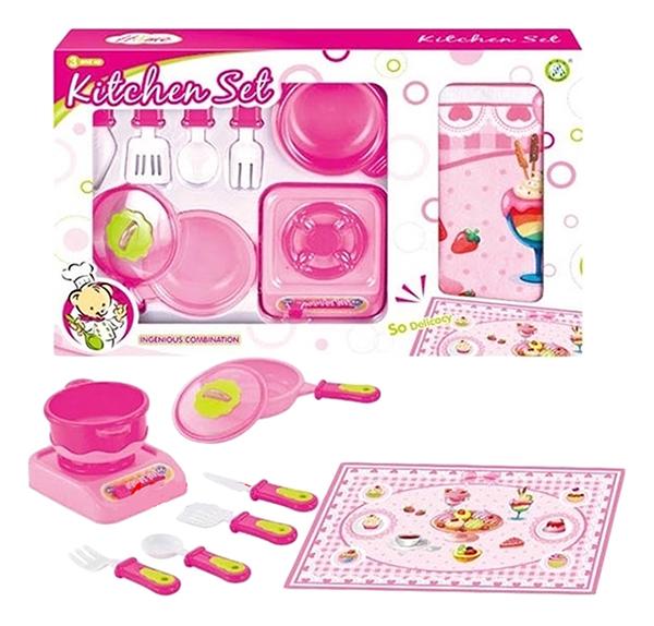 Купить Игровой набор Zhorya Kitchen Set ZY663506 34 см 21 предмет, Детская кухня