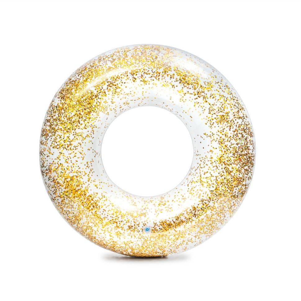 Круг для плавания Intex 56274 transparent glitter