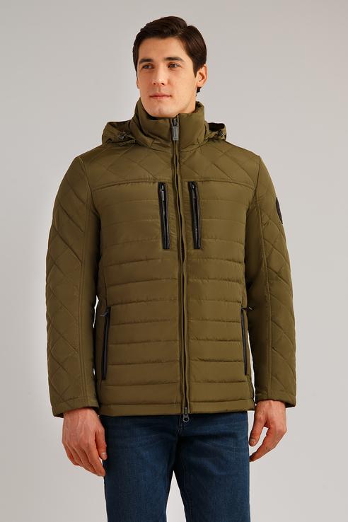 Куртка мужская Finn Flare B19-22002 зеленая XL фото