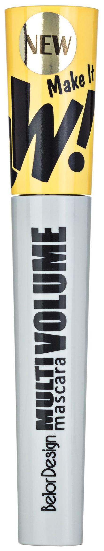 Купить Тушь для ресниц Belor Design Make It WOW! Multi Volume Mascara Черный 11, 8 г, Belordesign
