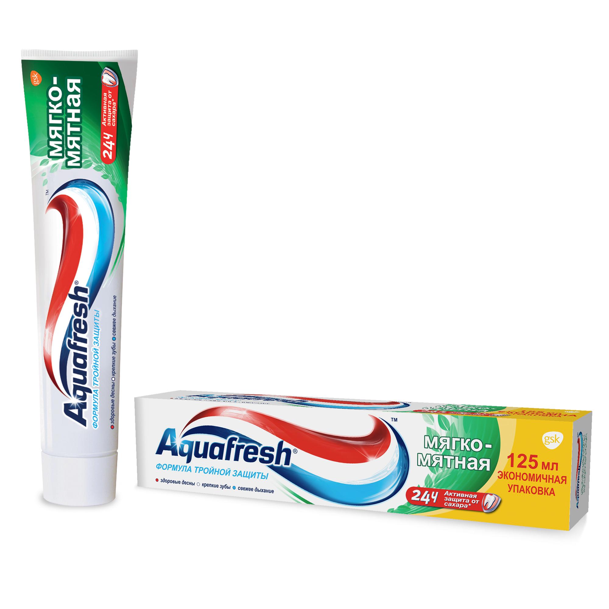 Зубная паста Aquafresh Тройная защита Мягко-мятная, 125 мл