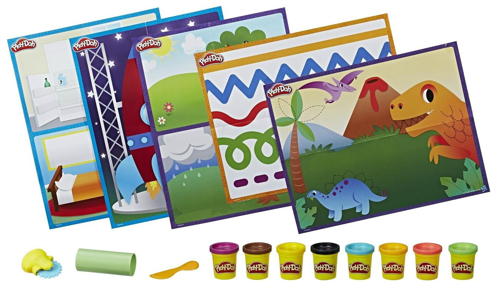 Купить Набор для лепки из пластилина Play-Doh Hasbro Познаем Мир, Лепка