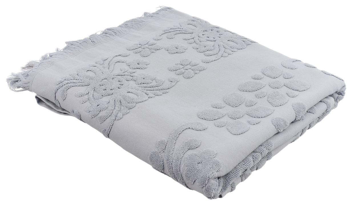 Банное полотенце, полотенце универсальное Arya серый