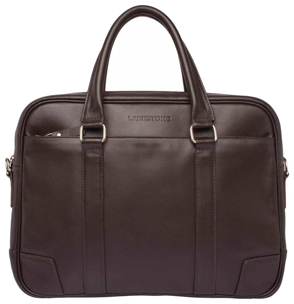 Портфель мужской кожаный Lakestone Foster коричневый фото