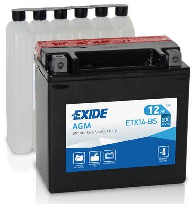 Аккумулятор автомобильныйEXIDE ETX14-BS 12 Ач