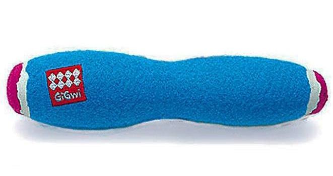 Игрушка-пищалка для собак GiGwi Палка Средняя, зеленый, длина 20 см