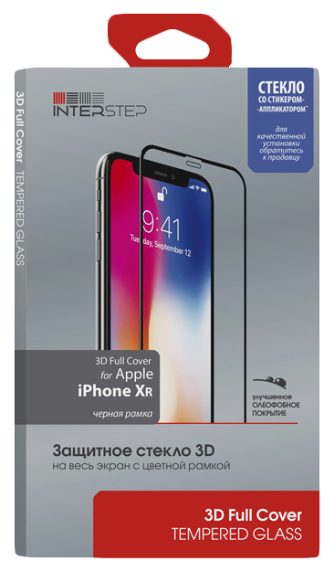 Защитное стекло InterStep для Apple iPhone XR Black