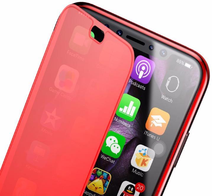Чехол Baseus Touchable (WIAPIPHX-TS09) для Apple iPhone X (Red)