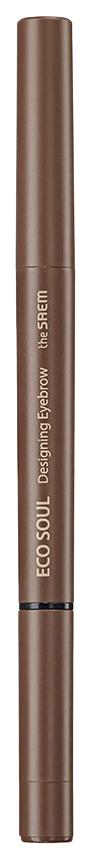 Купить Карандаш для бровей The Saem Eco Soul Designing Eyebrow 3в1 01 Brown 0, 2 г+0, 12 г