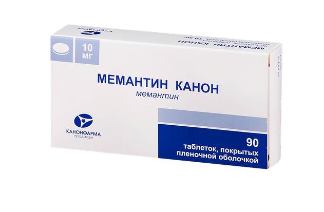 Мемантин Канон таблетки, покрытые оболочкой 10 мг 90 шт.