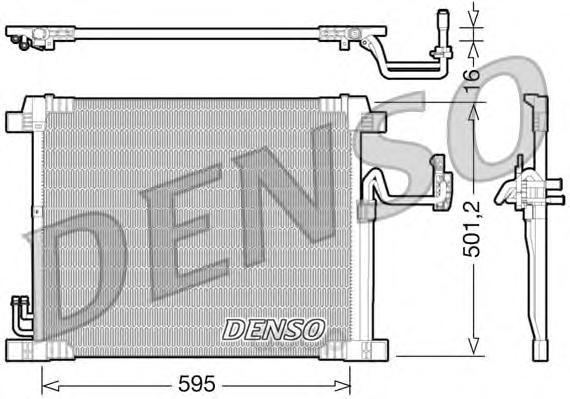 Радиатор кондиционера infiniti ex/fx/qx 3.5-5.0i 08 Denso DCN46012