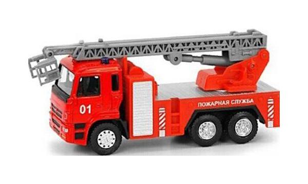 Купить Инерционная машина Play Smart Автопарк Пожарная служба 6556 Красный, PLAYSMART, Спецслужбы