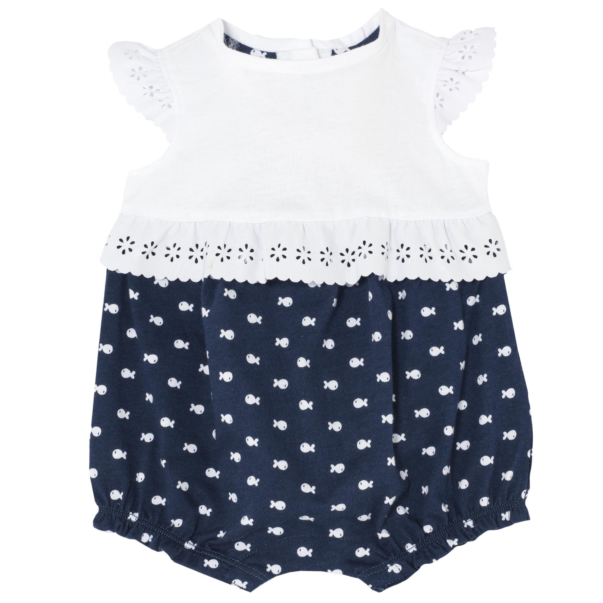 Купить Песочник Chicco р.86 бело-синий, Боди и песочники для малышей