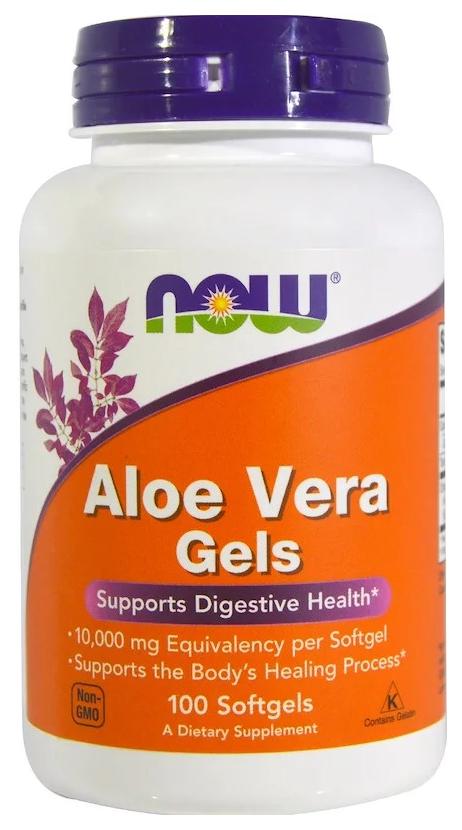 Добавка для здоровья NOW Aloe Vera Gels 100 капс. натуральный фото