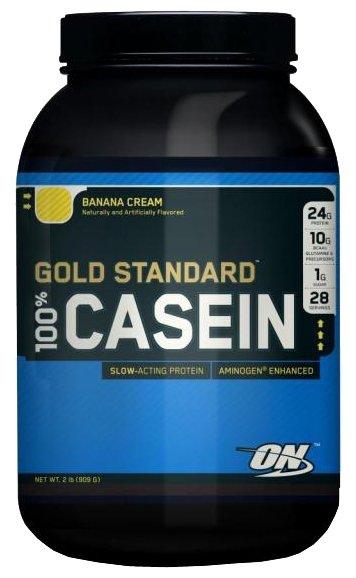 Протеин Optimum Nutrition 100% Gold Standard Casein 909 г Banana Cream фото