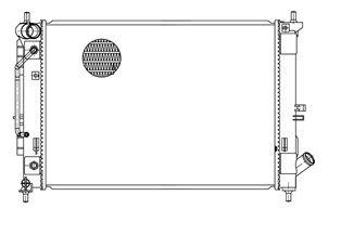 Радиатор охлаждения двигателя LUZAR LRc 081X6 фото