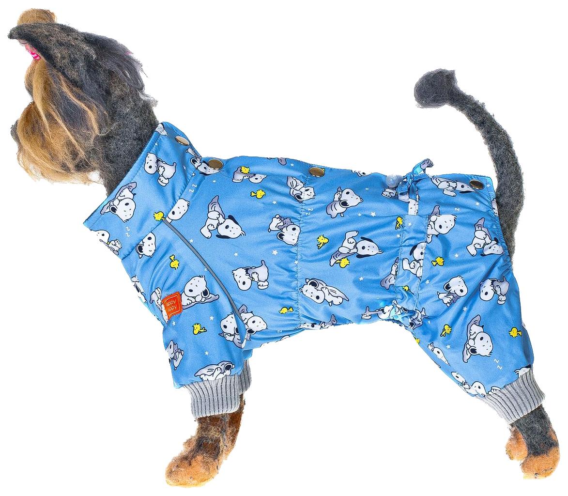 Комбинезон для собак Happy Puppy Снупик синий M.