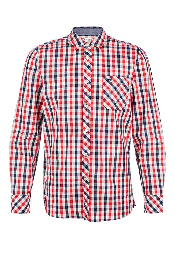 Рубашка Мужская Mustang красная 52