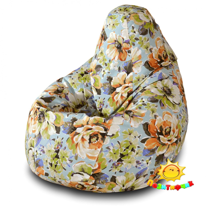 Кресло-мешок Pazitif Груша Пазитифчик Марта 03, размер XL, жаккард, разноцветный