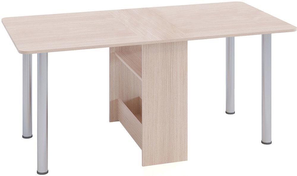 Кухонный стол Divan.ru 74х30х83 см, бежевый/серебристый