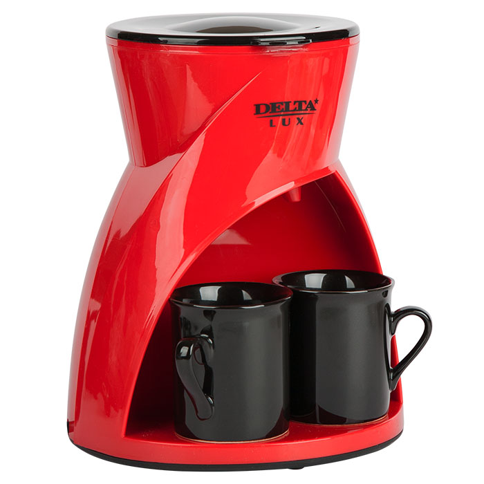 Кофеварка Delta LUX DL 8131 Red
