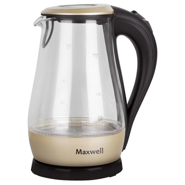 Чайник электрический Maxwell MW 1041GD Black/Beige