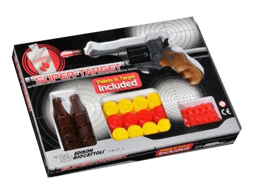 Купить Пистолет Champions-Line, Пистолет игрушечный Champions-Line Supertarget, короб, Edison Giocattoli, Игрушечные пистолеты
