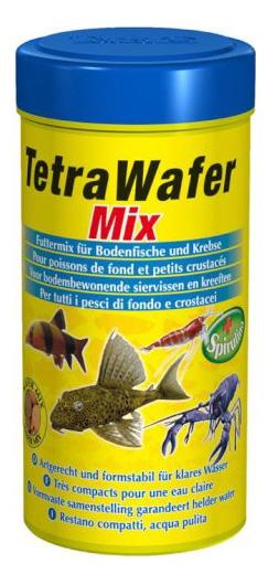 Корм для рыб TetraWafer Mix для всех донных рыб и ракообразных, пластинки, 250 мл фото
