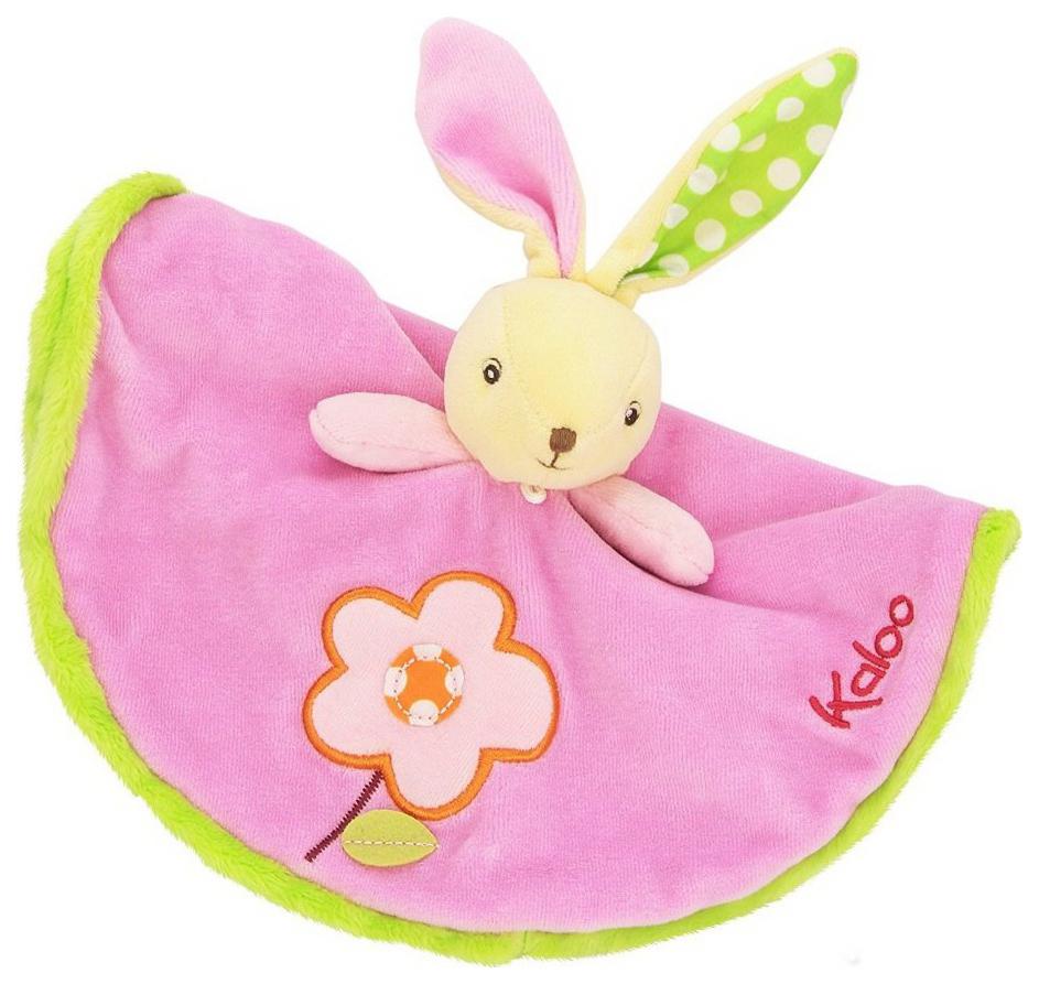 Купить Заяц, Комфортеры для новорожденных Kaloo Заяц Цветочек розовый