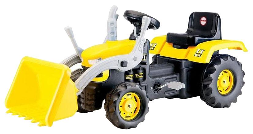 Купить Средняя, Каталка детская Dolu трактор-экскаватор педальный 8051 желто-черный, Каталки детские
